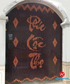 Màn cửa hạt gỗ Bồ Đề chữ Phúc Lộc Thọ