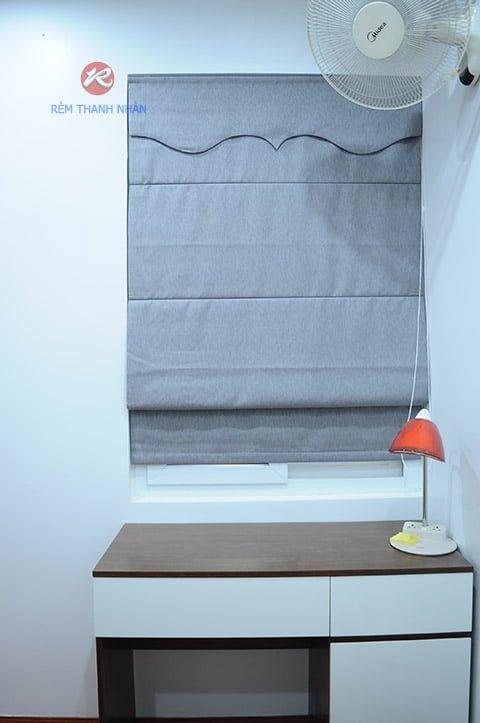 rem roman kep 2 lop phong ngu - Rèm vải một màu đẹp cho phòng khách, phòng ngủ