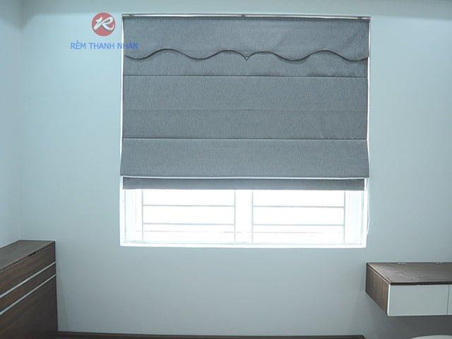 Rèm Vải Một Màu - Rèm roman kẹp 2 lớp RM-484-12