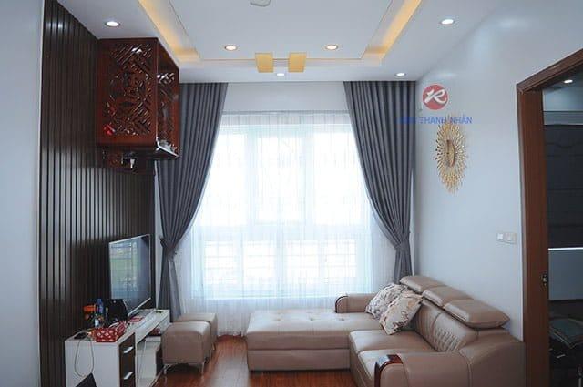 rem vai mot mau phong khach - Rèm vải một màu đẹp cho phòng khách, phòng ngủ