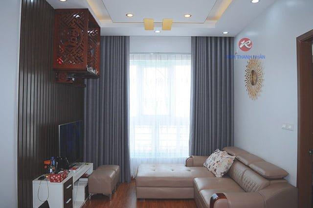 rem vai mot mau rv 484 12 - Rèm vải một màu đẹp cho phòng khách, phòng ngủ