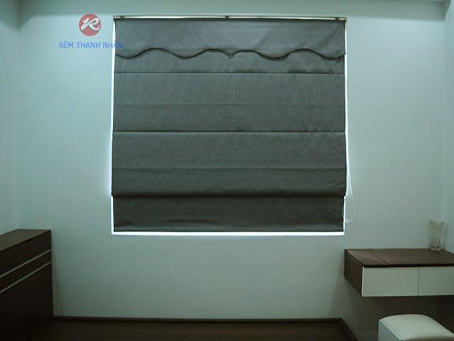 rem vai xep lop rm 484 12 - Rèm vải một màu đẹp cho phòng khách, phòng ngủ
