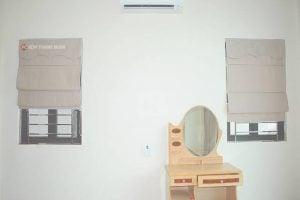 Rèm ROMAN KẸP vải Gấm cho cửa sổ phòng ngủ