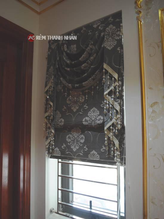 Rèm vải xếp lớp hoa văn họa tiết