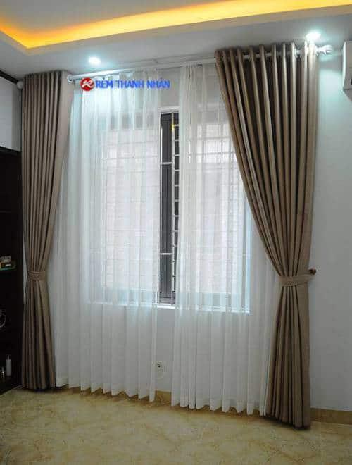 Rèm cửa sổ một màu RV-568-2 cho phòng ngủ