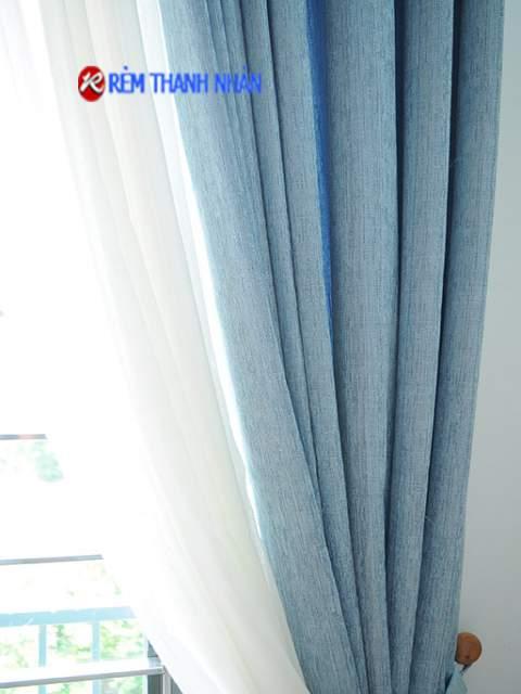 Mẫu rèm 2 lớp đẹp RV-90-13 và rèm voan xước 085-44-60