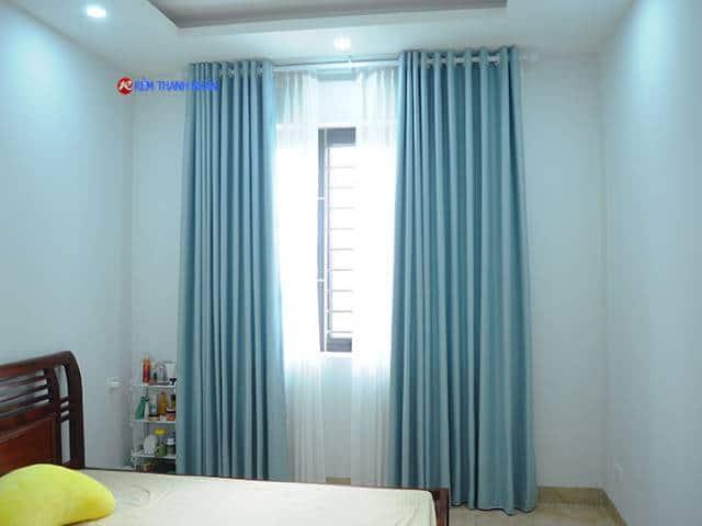 Rèm vải 1 màu RV-568-1 và Rèm voan trắng xước 085-44-60