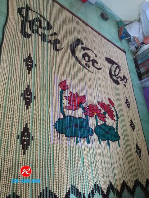Rèm Bàn Thờ mẫu Hoa Sen