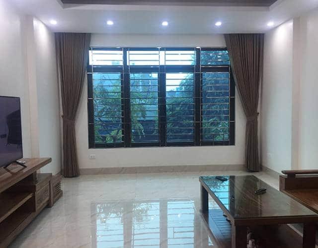Rèm cửa sổ đẹp RV-484-7 khi vén vải