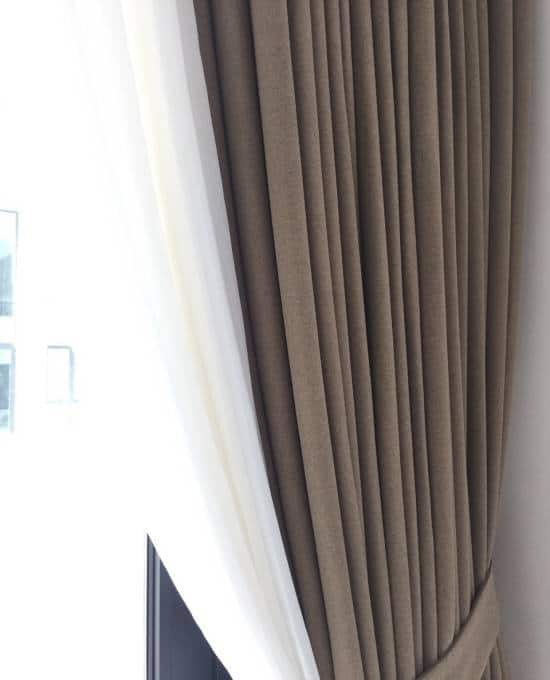 Rèm vải Nhật 2 lớp cản nắng