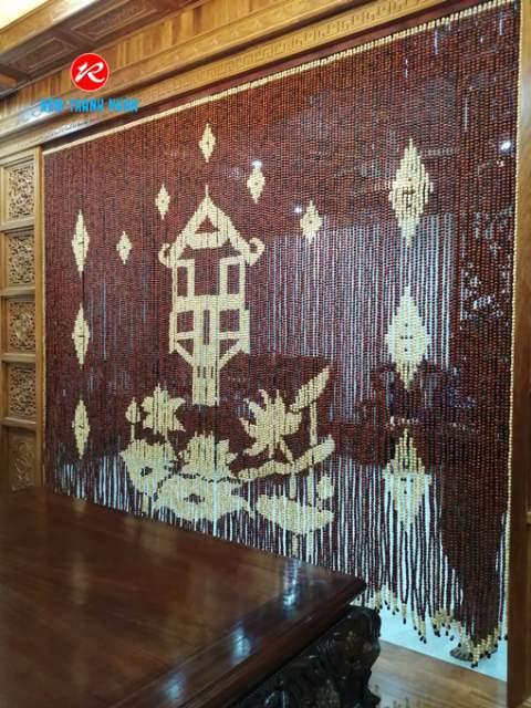 Màn cửa hạt gỗ che chắn Bàn Thờ