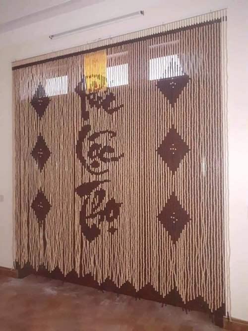 Rèm cửa phong thủy bằng hạt gỗ Bồ Đề