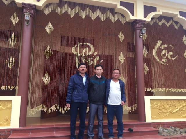 rem go huong phuc loc tho - Rèm hạt gỗ Hương treo phong thủy nhà Thờ