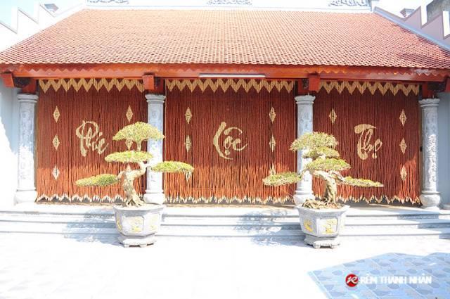 Rèm hạt gỗ cao cấp phòng thờ, nhà nhờ