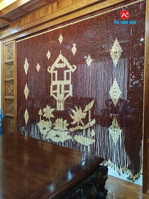 Rèm hạt gỗ phòng thờ tại Hà Nội