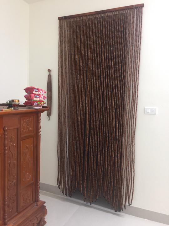 rem hat - Rèm hạt gỗ Hương treo phong thủy nhà Thờ