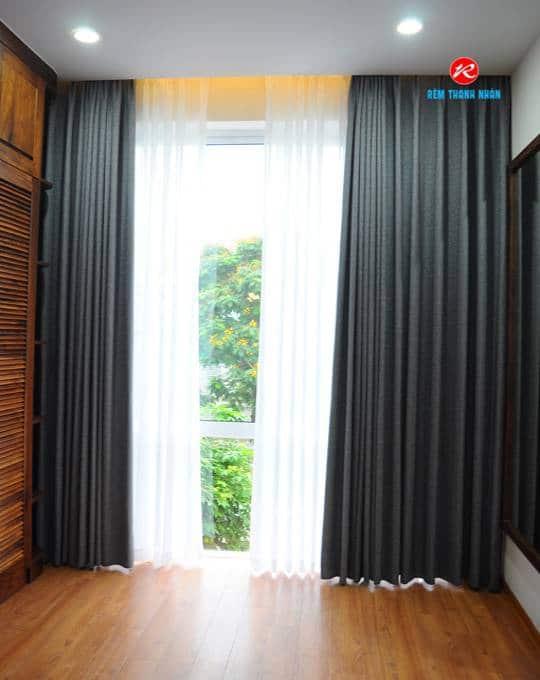Rèm cửa vải Hàn Quốc cho phòng ngủ