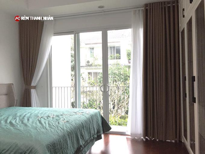 rem cua vai nhat cho phong ngu - Rèm cửa đẹp vải Nhật Bản T898
