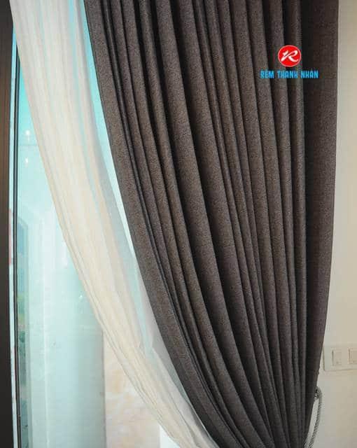 Rèm vải đẹp Hàn Quốc phòng ngủ