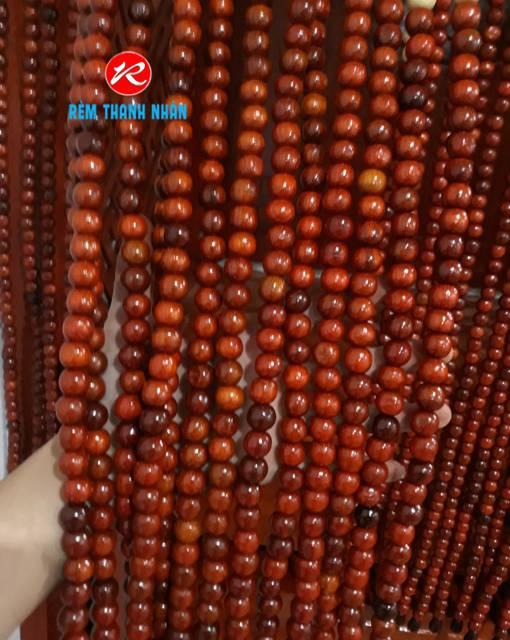 Chuỗi dây hạt gỗ Hương màu nâu