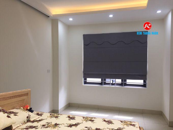 Rèm cửa sổ roman 2 lớp có yếm RM659-5 cản nắng 100% phòng ngủ