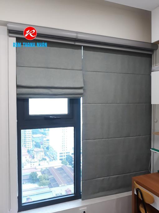 Rèm cửa vải chống nắng, cách nhiệt cửa sổ chung cư