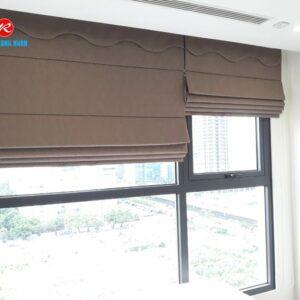 Rèm roman 2 lớp RM484-6 phòng ngủ