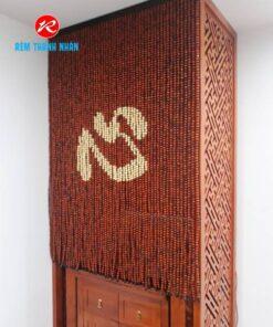 Rèm thờ hạt gỗ Hương chữ TÂM