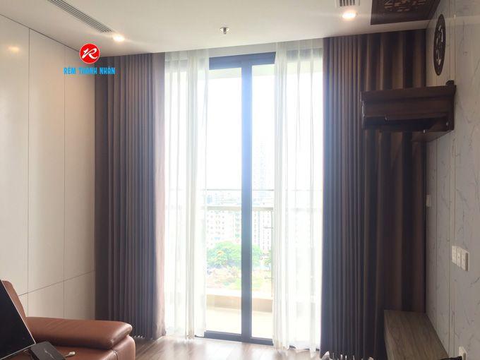 Rèm vải 2 lớp chống nắng chung cư RV484-6 và rèm von RV51-048