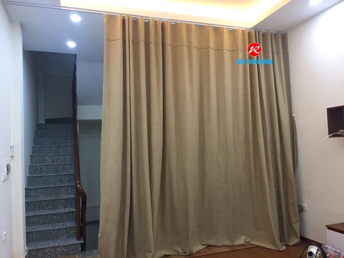 Rèm vải ngăn lạnh điều hòa RV51-13 cho phòng khách gia đình