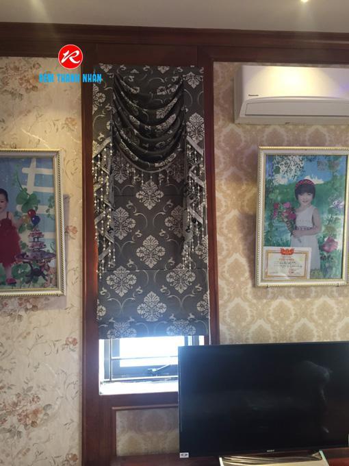 Ưu điểm rèm roman họa tiết 2 lớp RM2012-9 có yếm cho phòng ngủ