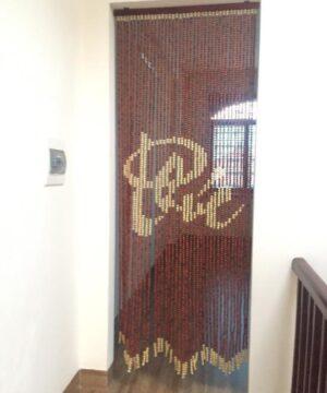 Rèm hạt gỗ phòng thủy cửa đi chữ Phúc
