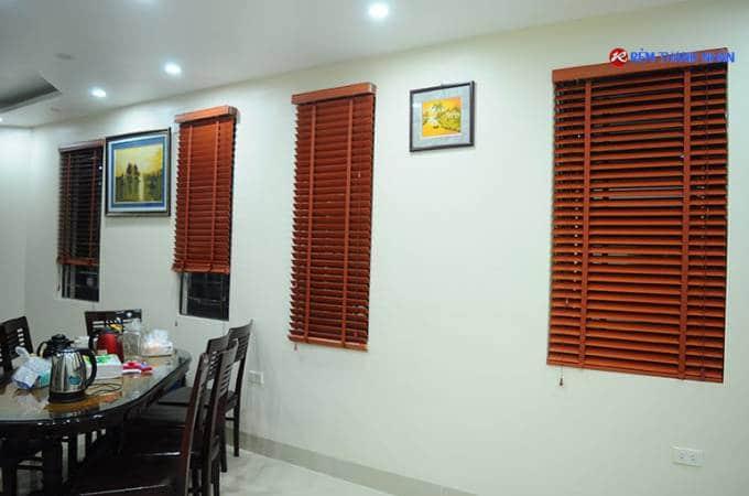Công trình rèm gỗ tự nhiên tại biệt thự Phú Lương