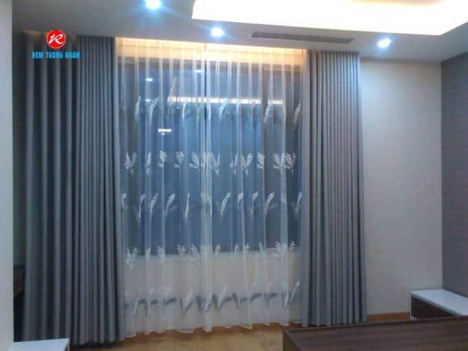 Công trình rèm vải Linen cách nhiệt 2 lớp tại công ty Luật Trần Gia