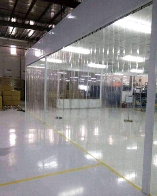 Giá rèm cửa nhựa PVC ngăn lạnh