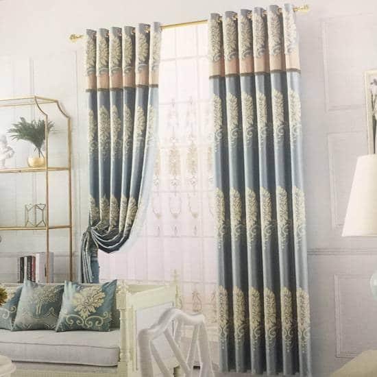 Giá rèm cửa sổ vải gấm lụa print