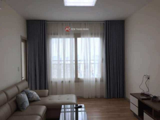 Mẫu rèm cửa sổ phòng khách vải cản nắng cản sáng SOLID