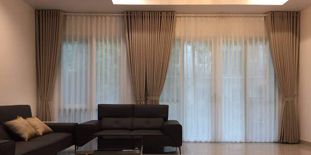 Rèm cửa đẹp 2 lớp vải Nhật chính hãng