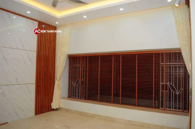 Rèm gỗ cửa sổ phòng khách mã MSJ 023