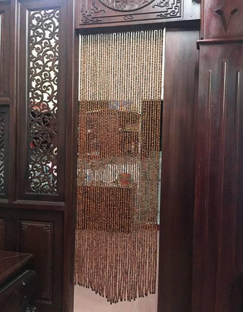 Mành hạt gỗ Hương treo cửa