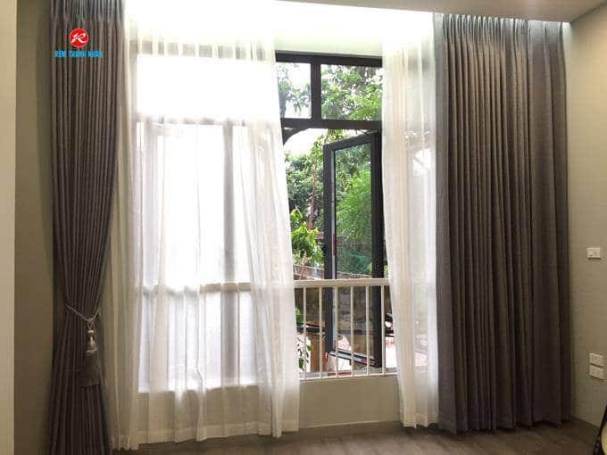 Rèm 2 lớp cửa sổ vải Hàn Quốc Nhập khẩu