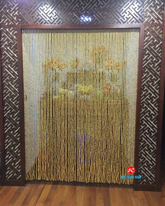 Báo giá rèm hạt gỗ