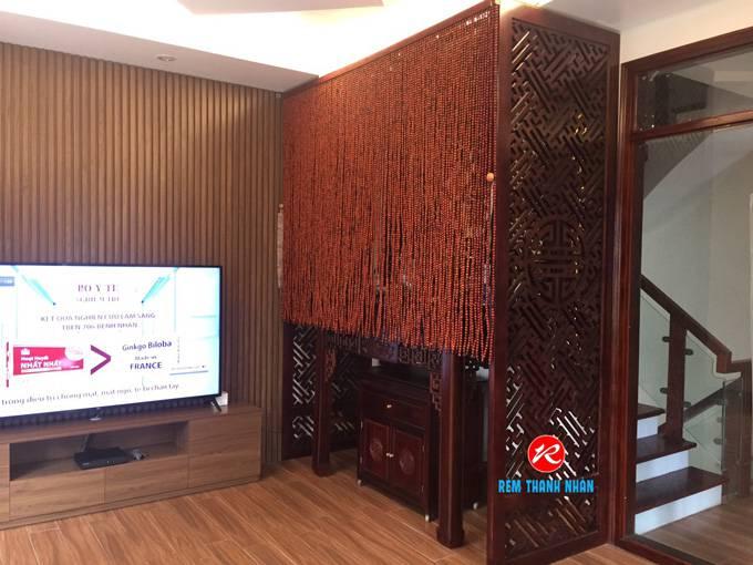 Rèm hạt gỗ phòng khách 2020