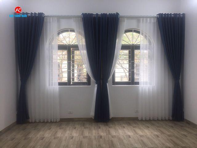 Rèm vải 2 lớp giá rẻ cửa sổ phòng ngủ