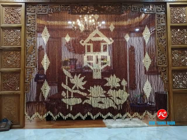 Mành hạt gỗ phong thủy phòng thờ