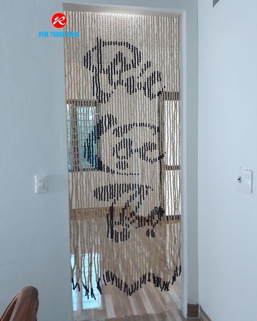 Rèm cửa hạt gỗ phong thủy phòng thờ