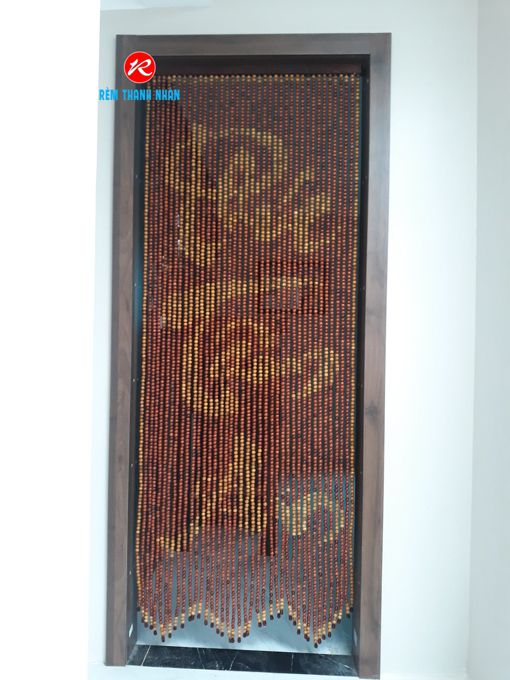 Rèm hạt gỗ Hương chữ Phúc - Tâm - An