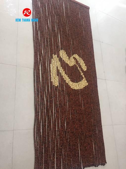 Rèm cửa hạt gỗ chữ Tâm Hán