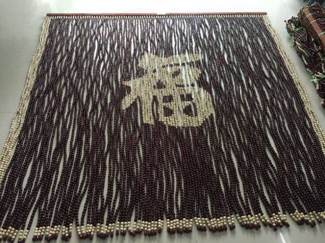 Rèm hạt gỗ Bồ Đề chữ Phúc Hán