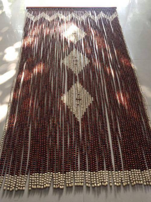 Rèm hạt gỗ Hương 3 quả Trám